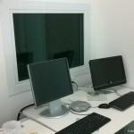 Sala de comando de tomografia computadorizada